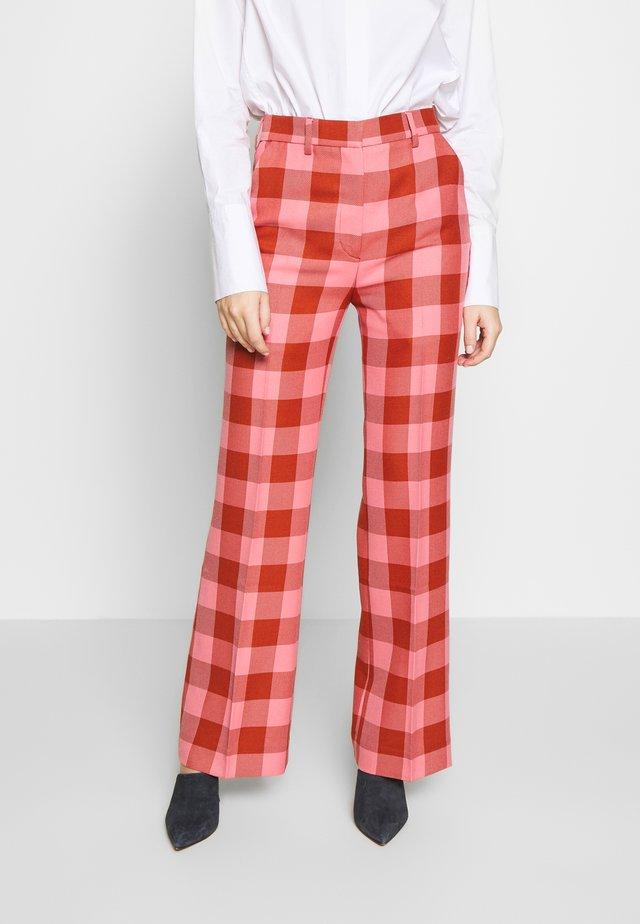 BROOKE GRUNGE - Trousers - flamingo pink
