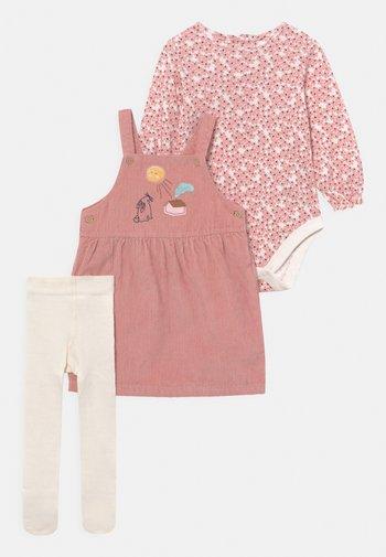 BABY DRESS SET - Legíny - pink mix