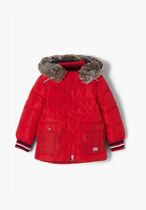 MIT FAKE FUR-BLENDE - Winter jacket - red