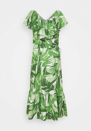 PALM BREEZE RUFFLE DRESS - Robe d'été - foliage green