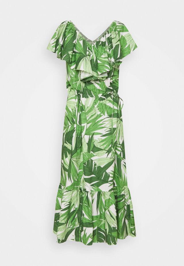 PALM BREEZE RUFFLE DRESS - Sukienka letnia - foliage green