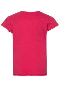 Tommy Hilfiger - ESSENTIAL RUFFLE SLEEVE - Camiseta estampada - pink - 1