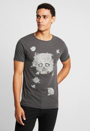 JPRDWIGHT TEE CREW NECK SLIM FIT - Print T-shirt - black