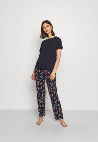 Marks & Spencer London - FLORAL - Pyjamas - navy mix - 1