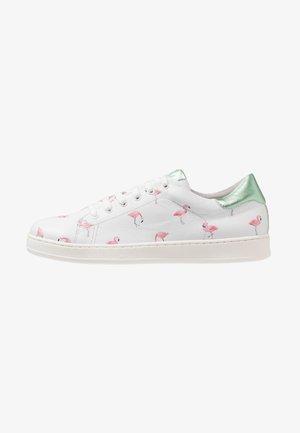 PRINT  - Tenisky - blanco/pink/silver green
