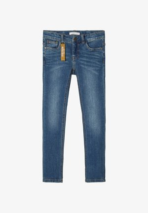 POWERSTRETCH SKINNY FIT - Skinny džíny - dark blue denim