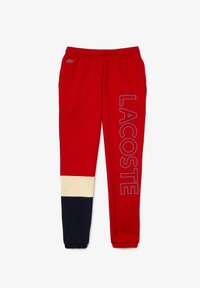 Lacoste - Tracksuit bottoms - rot / beige / navy blau - 0