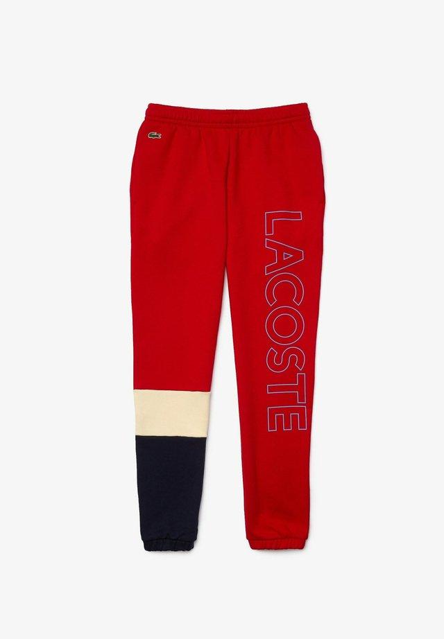 XH0706 - Pantalon de survêtement - rot / beige / navy blau