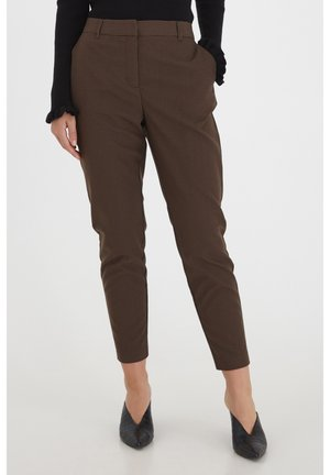 BYEVI - Y/D CHECK - Trousers - chicory coffee mix