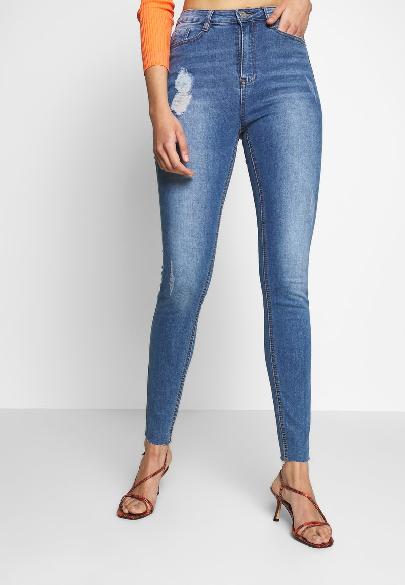 Missguided Tall - SINNER CLEAN DISTRESSED  - Jeans Skinny Fit - blue