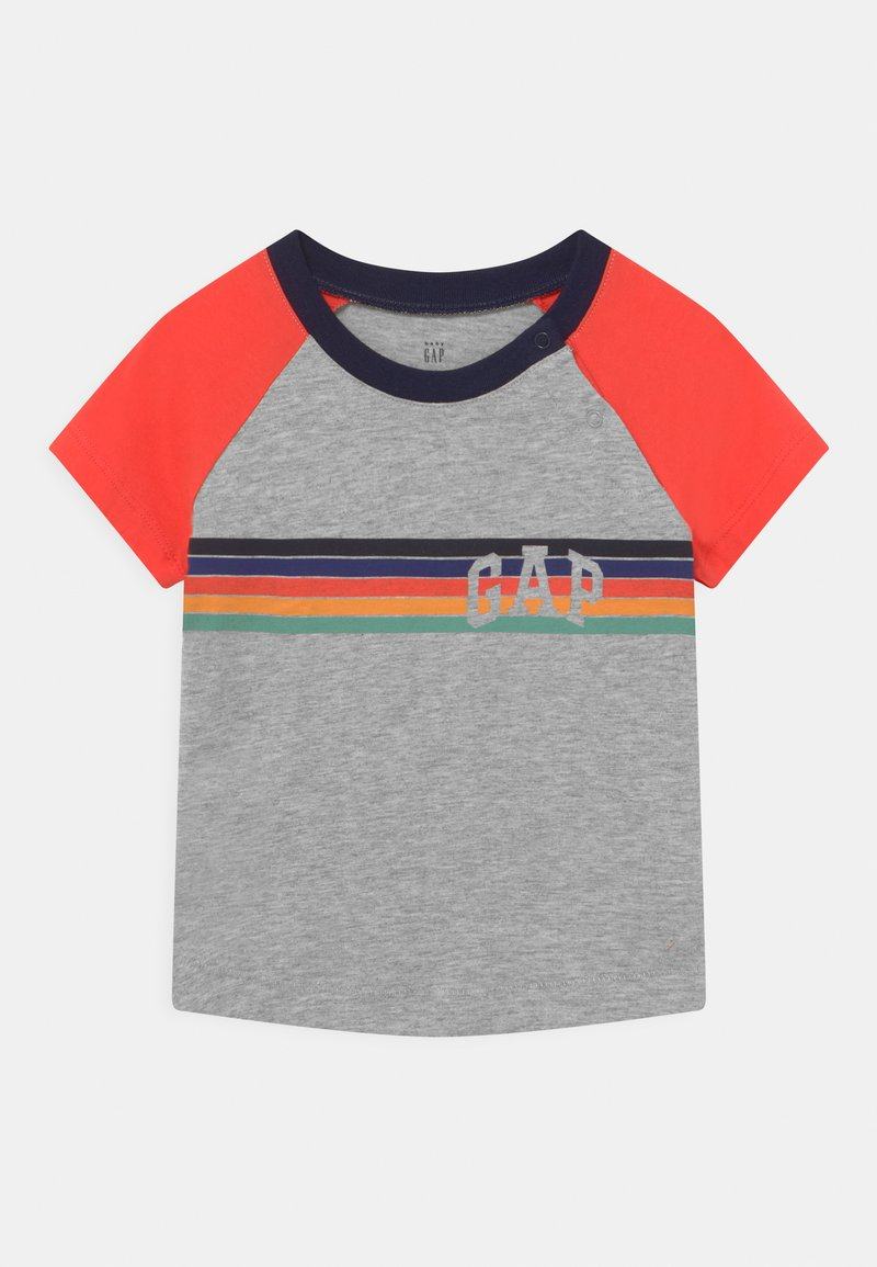 GAP - ARCH RAGLAN - Print T-shirt - light heather grey