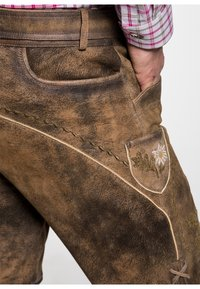 Spieth & Wensky - HULFING - Leather trousers - brown - 2