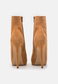 Even&Odd - LEATHER - Kotníková obuv na vysokém podpatku - beige - 3