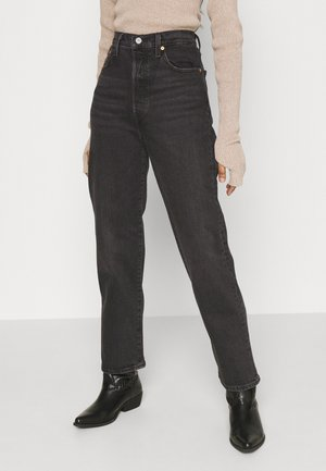 RIBCAGE STRAIGHT ANKLE - Jeansy Straight Leg - black denim