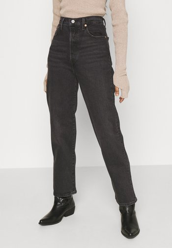 RIBCAGE STRAIGHT ANKLE - Jeans a sigaretta - black denim
