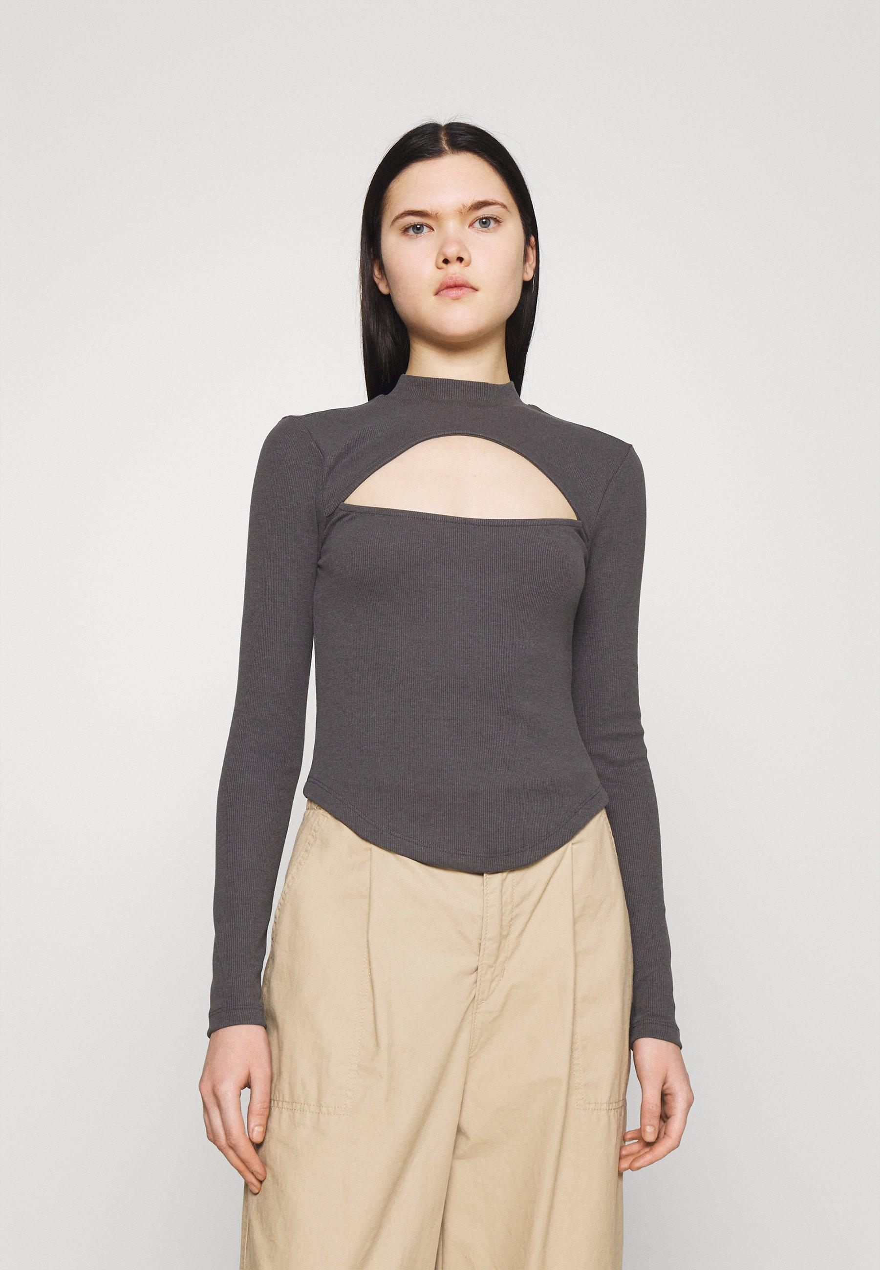 Femme CURVED HEM KEYHOLE - T-shirt à manches longues
