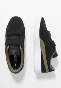 Puma - SMASH BUCK - Sneakers basse - black/burnt olive/white - 0