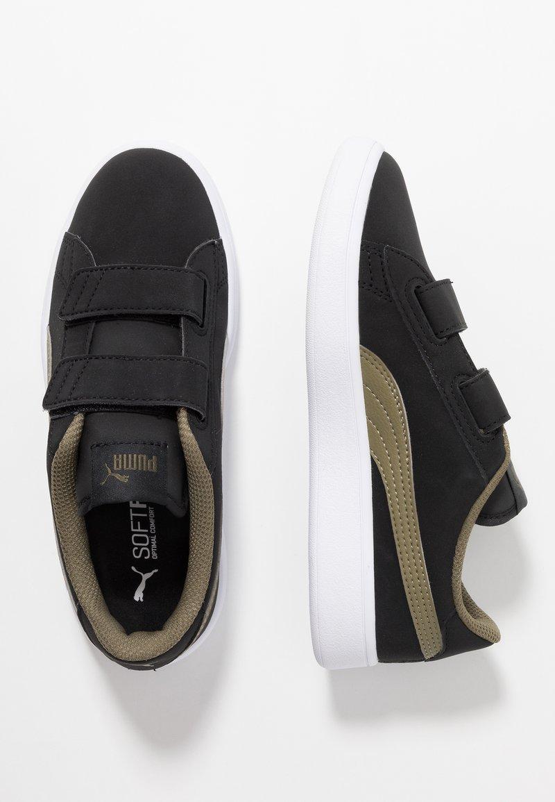 Puma - SMASH BUCK - Sneakers basse - black/burnt olive/white