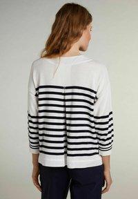 Oui - Sweatshirt - white blue - 2