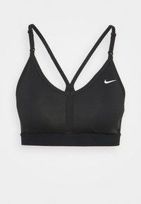 INDY BRA V NECK - Light support sports bra - black/white