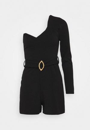 BELTED ONE SHOULDER - Jumpsuit - black