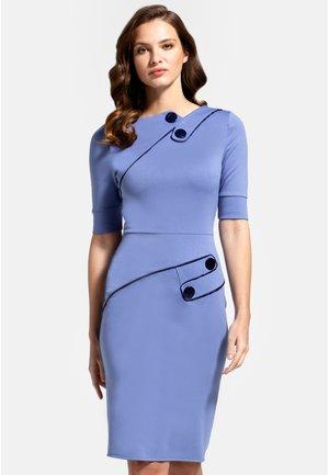 RICHMOND PONTE  - Pouzdrové šaty - woodblue and navy silky