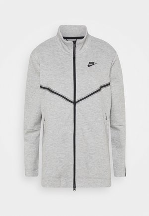 Cardigan - dark grey heather/black