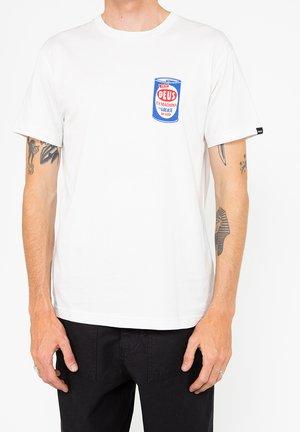 GREASE MONKEY TEE - Print T-shirt - vintage white