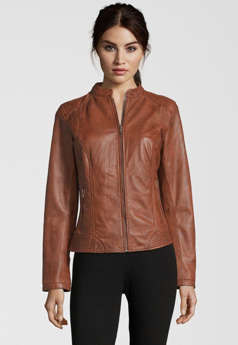 7eleven - Leather jacket - cognac