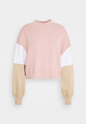 COLOR BLOCK CREW  - Sweatshirt - pink