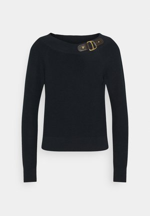 BALLET NECK - Jumper - navy