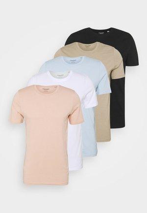 JJEORGANIC BASIC TEE O-NECK 5 PACK - T-shirt - bas - black