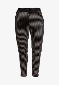 Burton Menswear London - PINSTRIPE - Tracksuit bottoms - black - 4