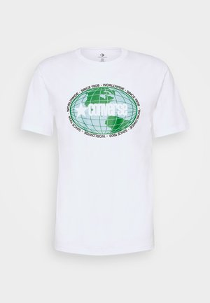 AROUND THE WORLD TEE - Print T-shirt - white