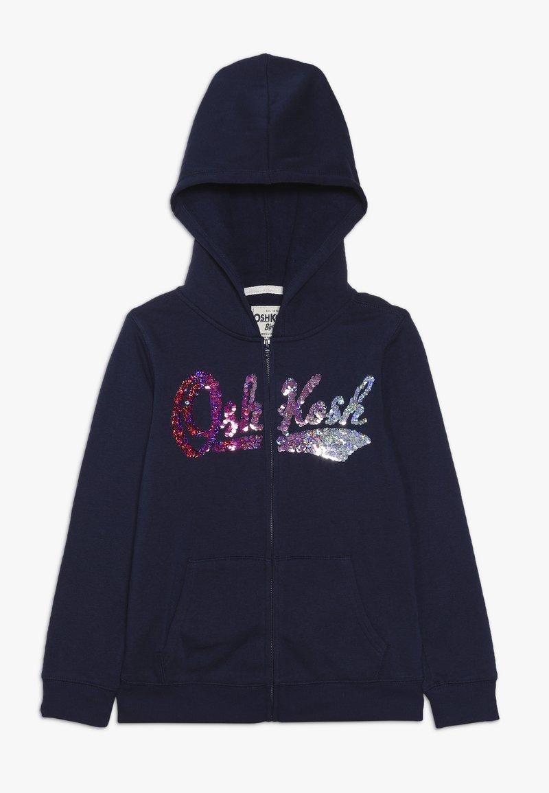 OshKosh - LOGO HOODIE - Huvtröja med dragkedja - dark blue