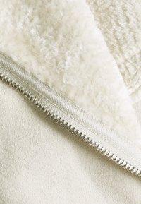 Miss Selfridge - LONGLINE AVIATOR - Faux leather jacket - cream - 2