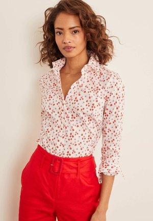 DAS NEW CLASSIC - Button-down blouse - naturweiß, beeren