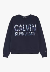 Calvin Klein Jeans - FLORAL LOGO OVERSIZED  - Sweater - blue - 0