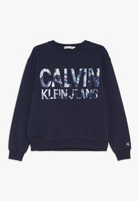 Calvin Klein Jeans - FLORAL LOGO OVERSIZED  - Sudadera - blue - 0