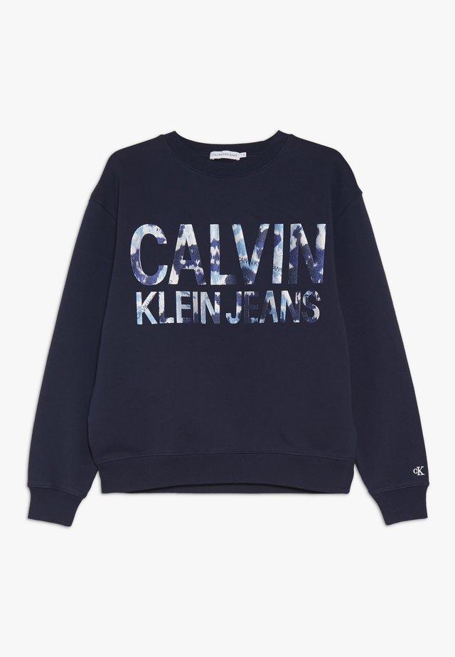 FLORAL LOGO OVERSIZED  - Sweatshirt - blue