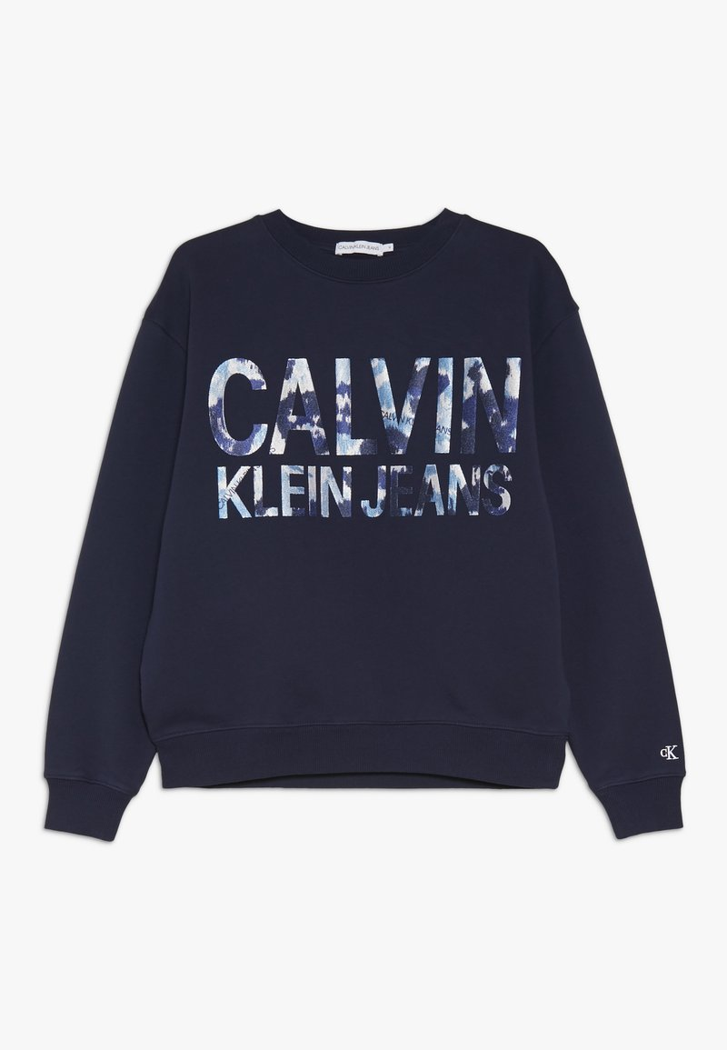 Calvin Klein Jeans - FLORAL LOGO OVERSIZED  - Sweater - blue