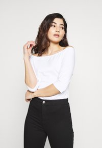 Even&Odd Petite - 2ER PACK  - Long sleeved top - white/black - 2