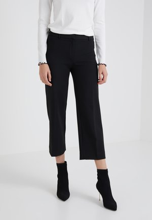 EVERYBODY WIDE LEG SEASONLESS STRETCH - Trousers - black