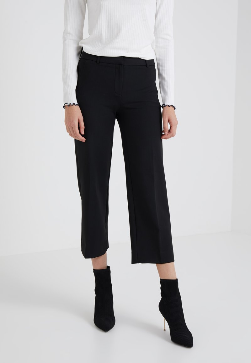 J.CREW - EVERYBODY WIDE LEG SEASONLESS STRETCH - Trousers - black