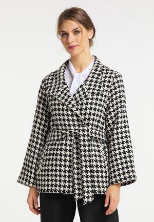 Short coat - schwarz weiss
