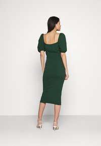 Glamorous - CARE PUFF SHORT SLEEVED MIDI DRESSES WITH SQUARE NECKLINE - Jerseyjurk - forest green - 2