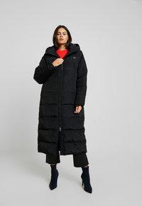 Herrlicher - LAURENA TECH FIBRE PRINTED - Cappotto invernale - black - 0