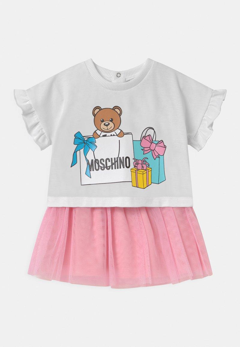 MOSCHINO - SET - A-line skirt - sugar rose/white