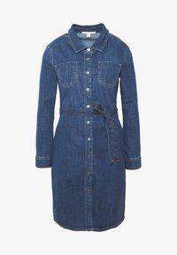 DRESS - Denim dress - blue dark wash