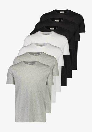 7 PACK - T-shirts basic - white/ black/ grey